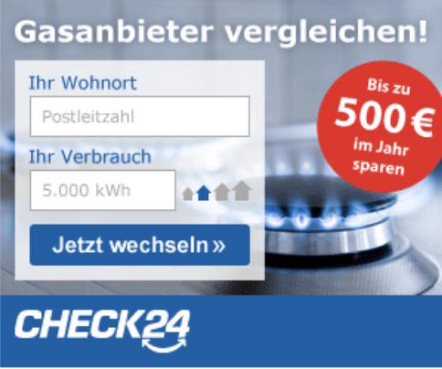 CHECK24 – Gasvergleich beim Testsieger Garantiert die günstigsten Tarife im besten Gasvergleich